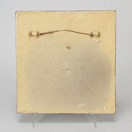 Stig lindberg, wall-plaque, gustavsberg.