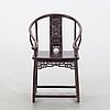 A chinese wooden chair last aprt of the 19th century.