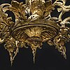 Chandelier, rococo style, mid 19th century.