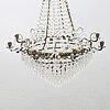 Ljuskrona, gustaviansk stil 1900-talet mitt.