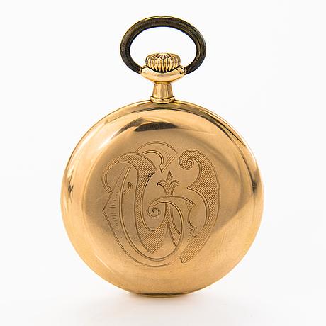 Omega, taskukello, 14k kultaa, halkaisija 5 cm.