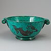 Wilhelm kÅge, an 'argenta' stoneware bowl, gustavsberg 1938.