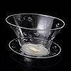 Edward hald, a glass bowl and dish, model designed in 1931.