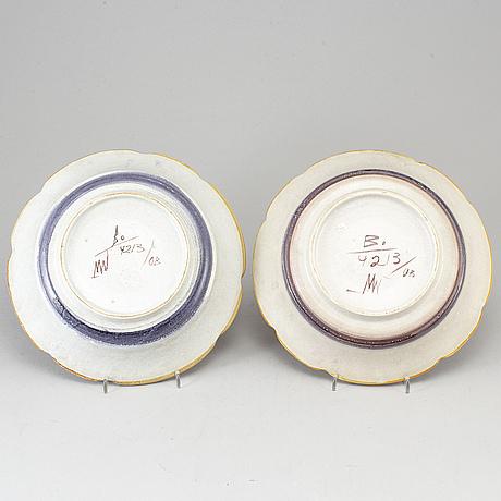 Maggie wibom, 2 ceramic bowls, bo fajans, 1920-30s.