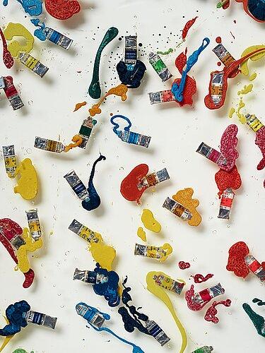 """Fernandez arman, """"tubes de couleur suedois""""."""