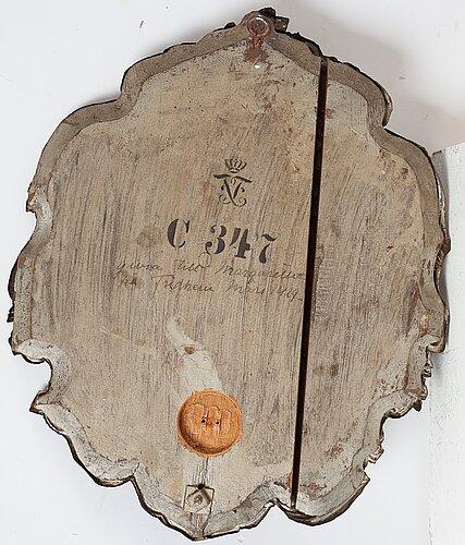 LjusplÅtar, för två ljus, ett par, daterade 1765.