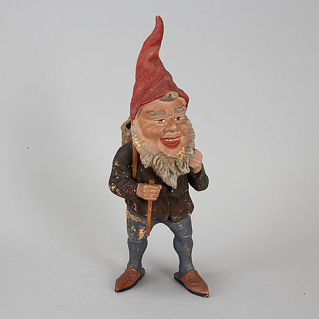 A ceramic 20th century gnome.