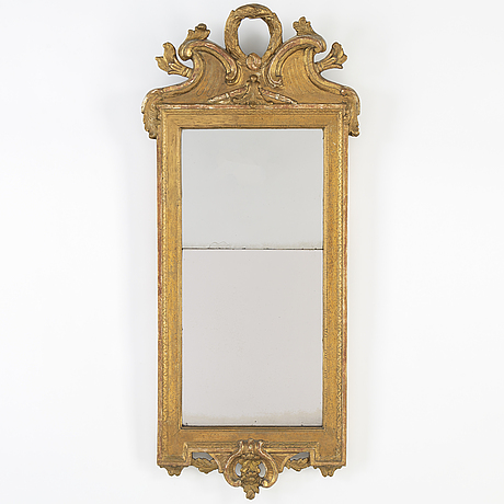A late 18th century gustavian mirror by per westin (master in stockholm from 1776).