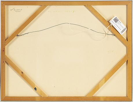 Kg nilson, a tergo signerad kg nilson och daterad 73-93, olja på pannå.