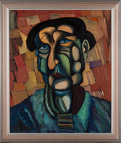 Paavo sarelli, oil on board, signed and dated -80.