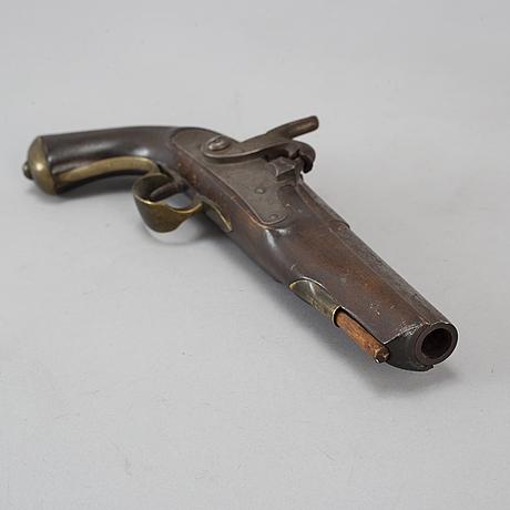 A pistol, mid 19th century.