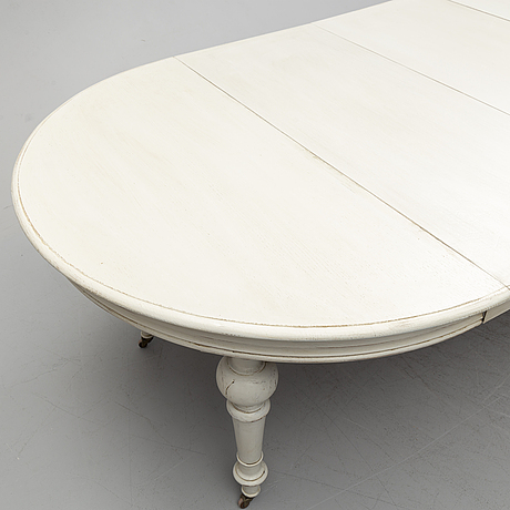 A second half of the 19th century painted dining table.