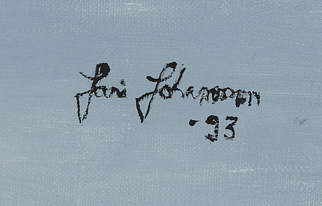 Jari johansson, acrylic on canvas, signed and dated -93.