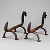 A pair of 20th century andirons.