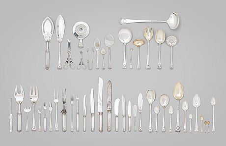 A swedish 20th century silver 255 piece table-cutlery, mark of wa bolin, stockholm 1937. model empire i.