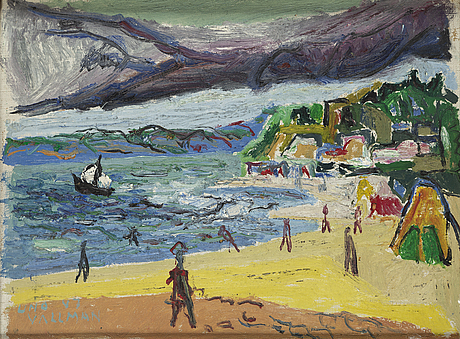 Uno vallman, oil on canvas, signed and dated -47.