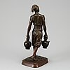 Jean didier debut, after. signed, foundry mark. bronze, height 32 cm.