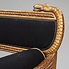 A swedish sofa attributed to johannes andersson, (1763-1840), 1810/20's.
