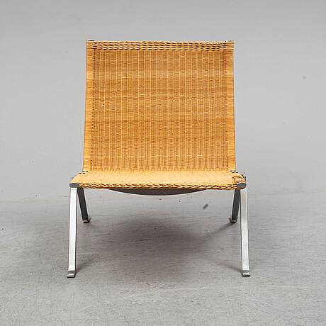 Poul kjaerholm, a pair of 'pk22' lounge chairs from e. kold christensen, denmark.