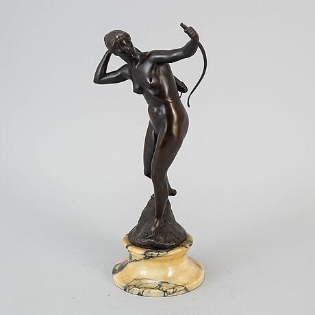 Unknown artist, sculpture, bronze, signed valenin.