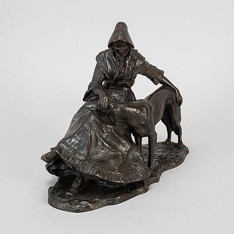 Fried cornik, skulptur, signerad och daterad 1917.