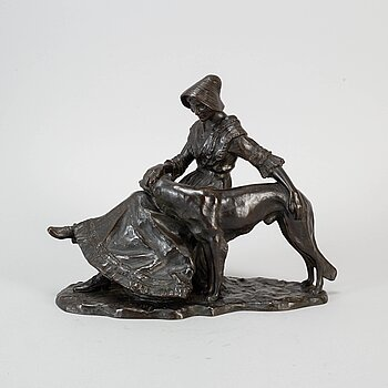 FRIED CORNIK, sculpture, bronze, signed and dated 1917.