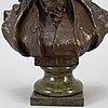 S. allegro, skulptur, brons, signerad.