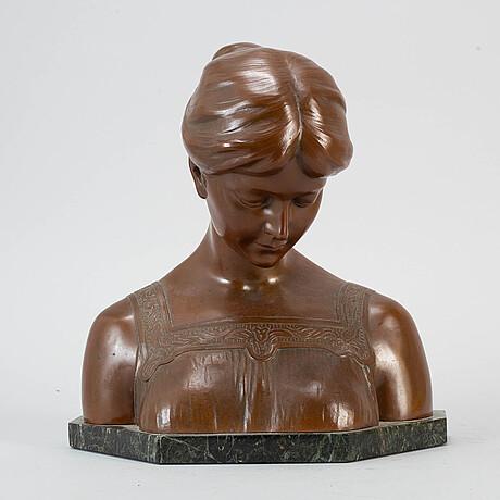 Mathias schumacher, sculpture, bronze, signed.