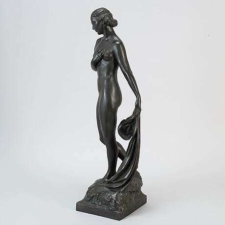 Alfred ohlson, sculpture, bronze, signed.