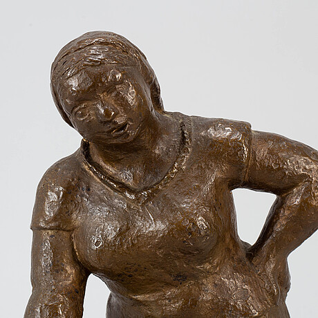 Adam fischer, sculpture, bronze, signed and dated -39.
