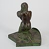 Jenni lagerberg, sculpture, bronze, signed.