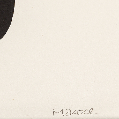 Makode linde, lithograph, signed and numbered 24/35.