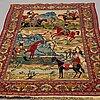 A rug, semi-antique kashan, ca 235 x 141 cm.