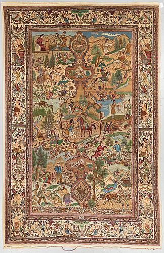 A rug, old tabriz, signed tabatabai, ca 268 x 184 cm.