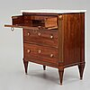A late gustavian writing commode, late 18th century.