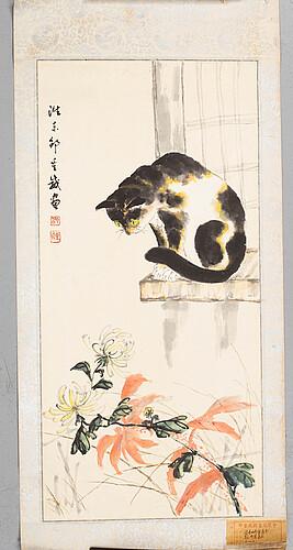 A chinese hanging scroll, signed shao chongwei, republic period.