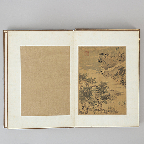 An album with paintings, ink and colour on silk, 19th/20th century.