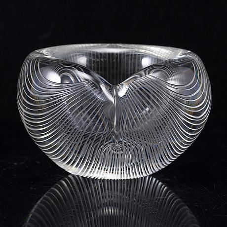 Tapio wirkkala, a glass bowl from iittala, finland, 1955.