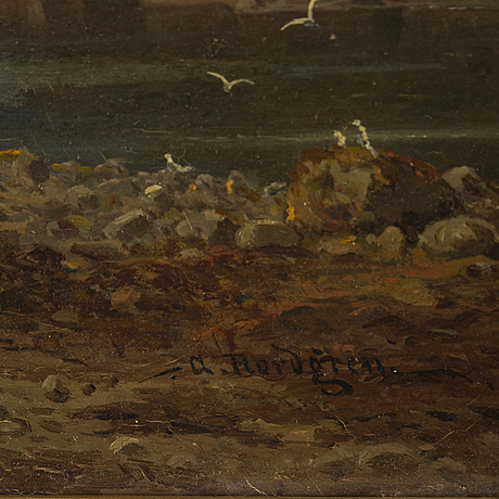 Axel nordgren, oil on canvas, signed.