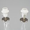 A pair of glass table lights by carl fagerlund, model rd 2052, orrefors.