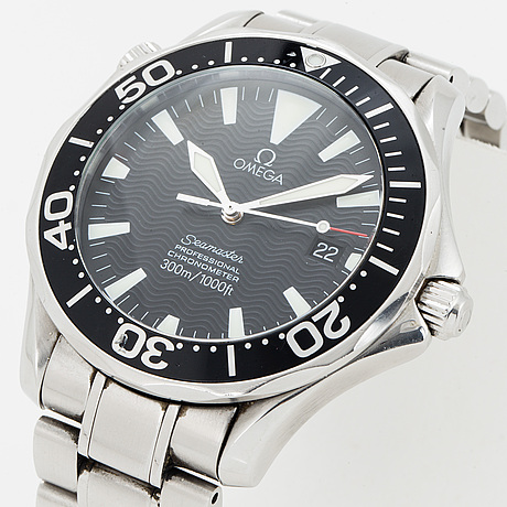 Omega, seamaster professional (300m/1000ft), chronometer, wristwatch, 41 mm.