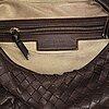 Bottega veneta, a brown leather bag.