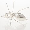 Ru runeberg. a small sterling silver oil decanter 'pissing ant'. vaasa 2014.