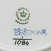 Royal copenhagen, a part 'musselmalet' porcelain dinner service, denmark, second half of the 20th century (20 pieces).
