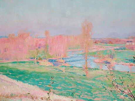 """William blair bruce, """"printemps, grèz (seine-et-marne)""""."""