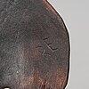 Ingvar gustavsson, a sami reindeer horn and burr birch bear spear, långträsk, arvidsjaur, signed i.g.