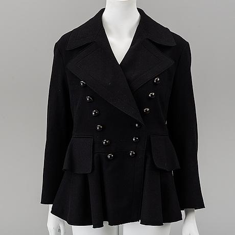 Burberry, wool coat.
