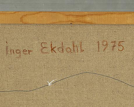 Inger ekdahl, olja på duk, signerad och daterad 1975 a tergo.
