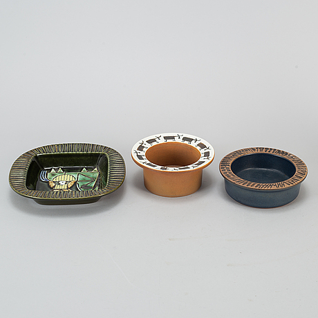 A collection of 7 pieces of stoneware, gustavsberg.