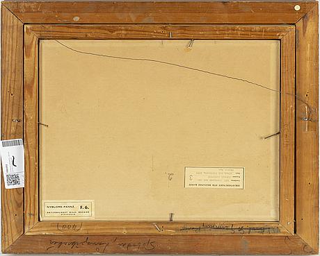 Harald lindberg, oil on panel, signed.